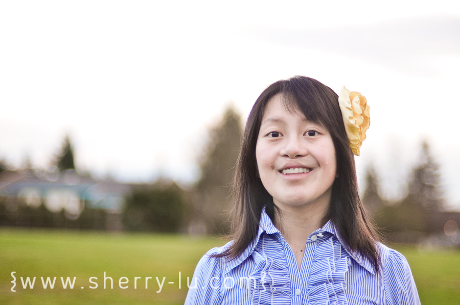coquitlam portrait photographer, girl wearing homemade diy headband