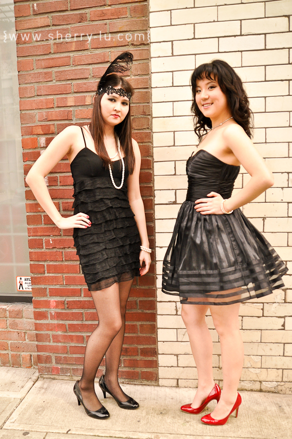 flapper inspired, betsey johnson inspired, styled fashion shoot in yaletown, vancouver fashion photographer
