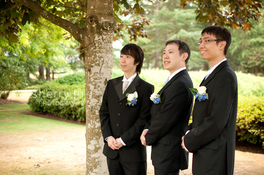 richmond wedding photographer, minoru chapel wedding in richmond bc, groomsmen photo