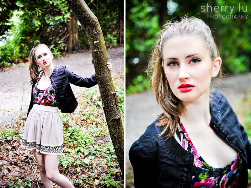 Vancouver fashion photographer, model agency test, model test shoot